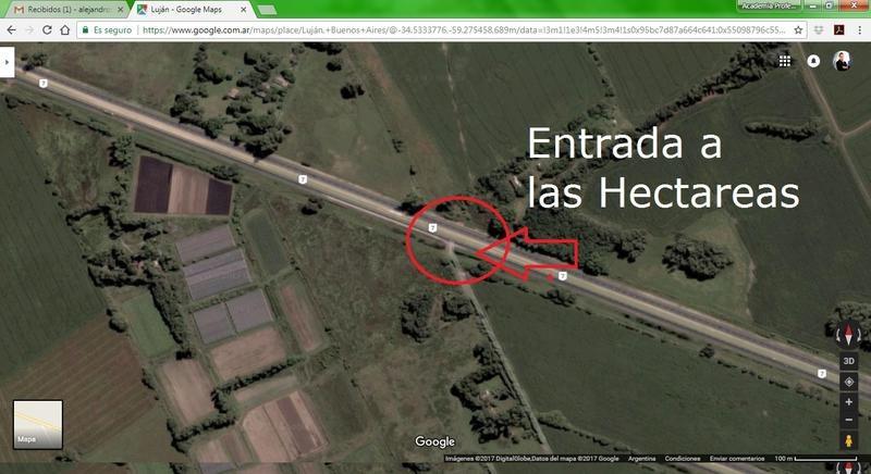 campo cerca de ruta y autopista acceso oeste*****