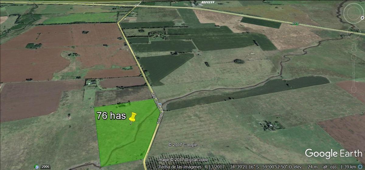 campo de 76 hectareas en venta general rodriguez