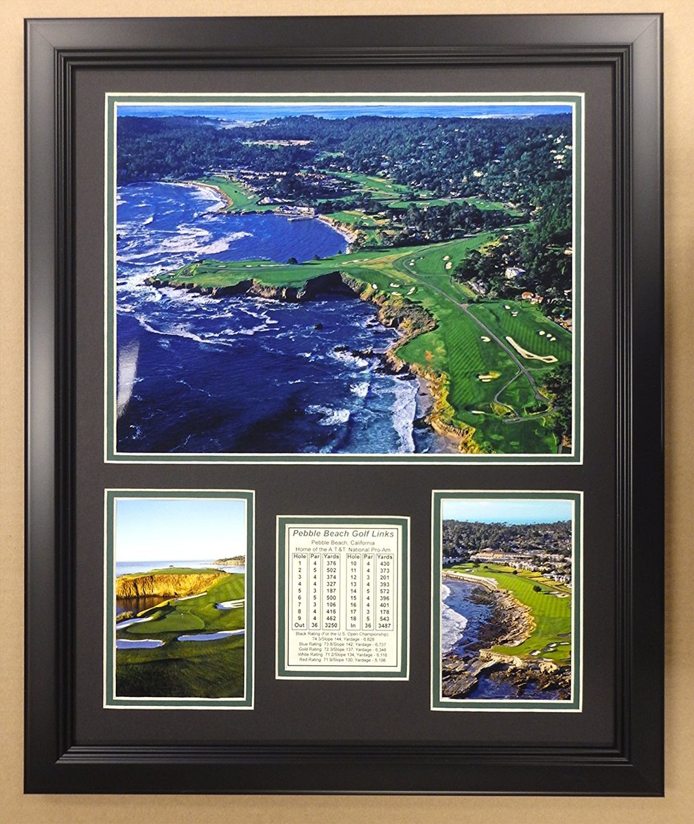 Campo De Golf Pebble Beach - Fotos Enmarcadas Dobles De 1 ...