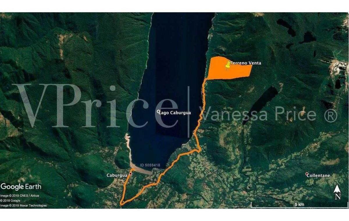 campo en caburgua 178 hectáreas, sector renahue