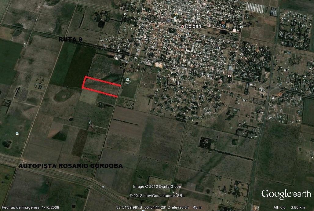 campo en roldan,santa fe,a 20 km de rosario.ideal inversores