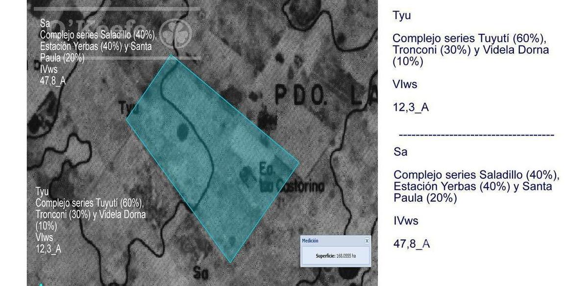 campo mixto de 167 has a 7 km de ruta 3