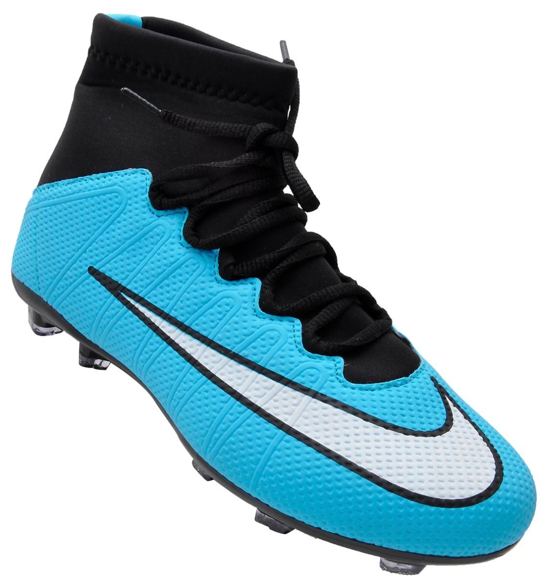 Chuteira Campo Nike Botinha Infantil Mercurial Frete Grátis - R  202 ... 0008452f82930