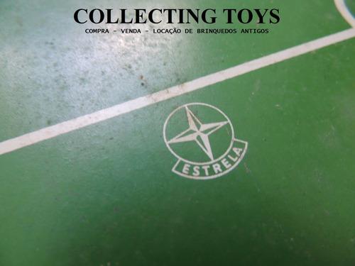 campo para futebol de botão - estrelão - 87x63 cm - original