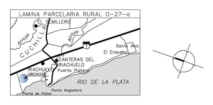campo sobre el río con proyecto aprobado. ref: 1.041