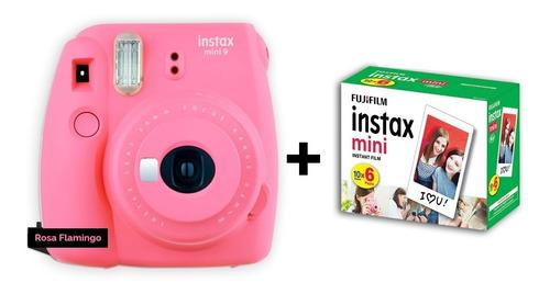 camêra instax mini 9 + 60 fotos - entrega +  rápida