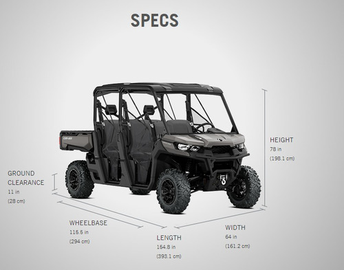 can am defender  hd 10 6 plazas