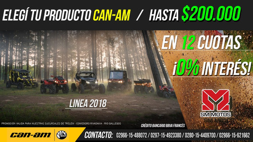 can-am maverick x3 std 2018 172cv 50%+12 ctas s/int