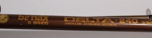 caña banax bando delta-240 action heavy 2.4m (ver descrip.)