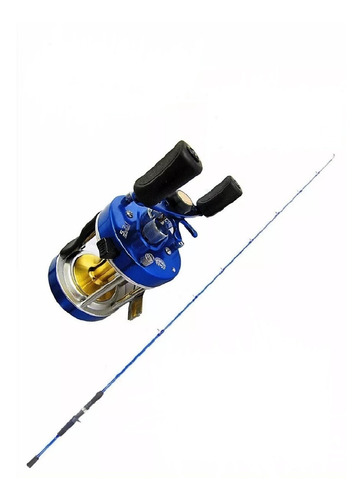 caña carbono macizo river power 1.95 reel caster 400