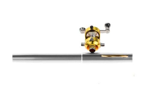 caña de pesca portatil tipo pluma carrete curricanes