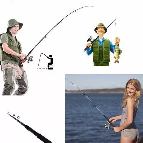 caña de pescar de 160cm combo completo