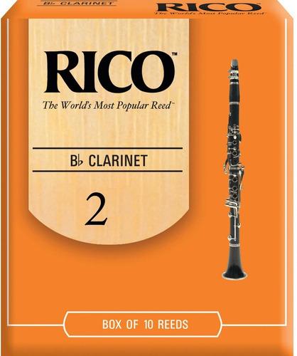 caña rico bb clarinete nº 2 - rca1020 por unidad