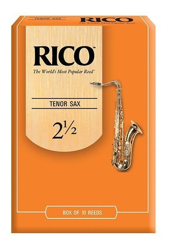 caña rico saxo tenor nº 2 y 1/2 - rka1025 por unidad