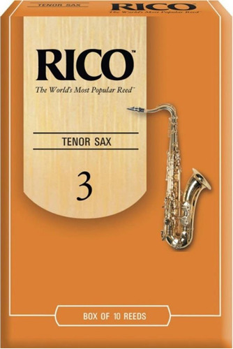 caña rico saxo tenor nº 3 - rka1030 por unidad