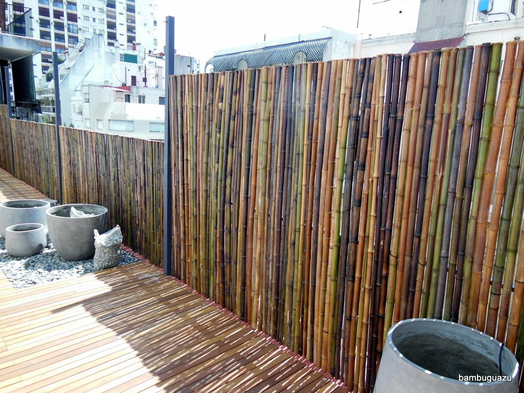 Ca a tacuara bambu cercos decoraci n largo 4 metros 20 - Canas de bambu decoracion ...