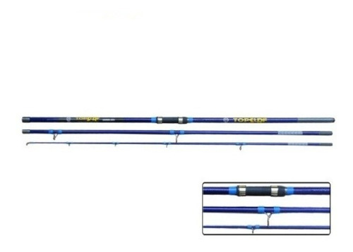 caña top surf azul 3.90 mts 3 tramos frontal