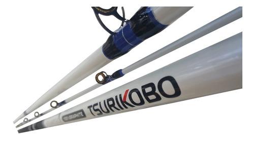 caña tsurikobo 3.90 mts 3 tramos rotativo modelo 100-200 grs
