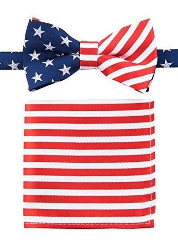 canacana us flag old glory pre-tied boy s bow tie with strip