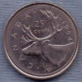 Elizabeth 2 D g Regina 25 Cents Monedas Y Billetes America