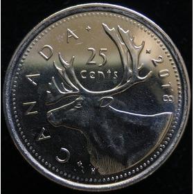 Canada, 25 Cents, 2018. Alce. Sin Circular