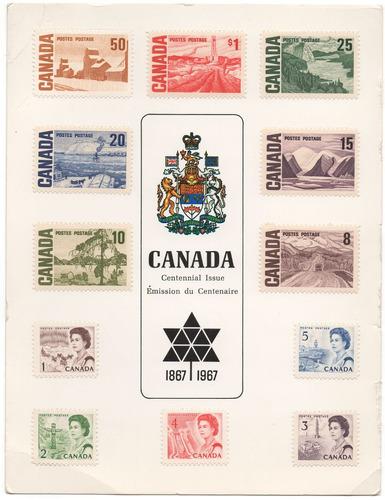 canadá set de estampillas de 1967
