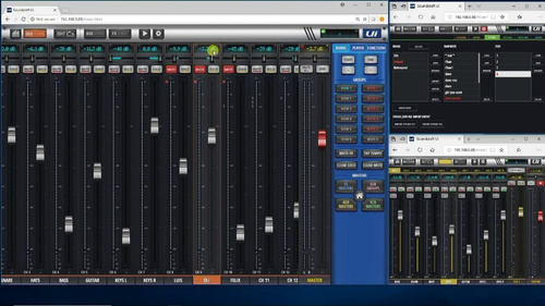 canais soundcraft mesa