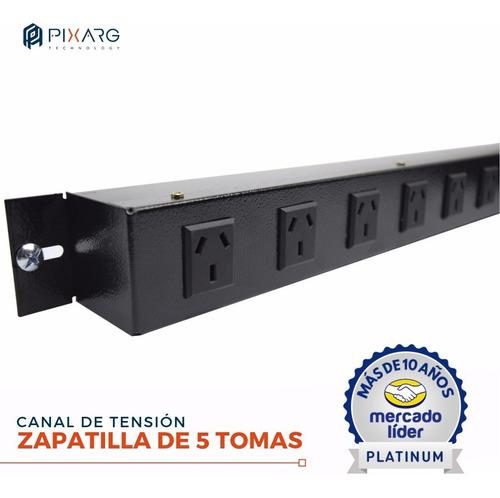canal tension rack rackeable 5 tomas zapatilla pie mural glc