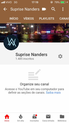canal youtube 1400subs