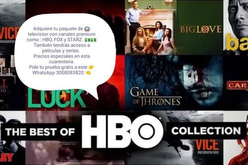 canales premium, películas y series