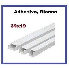 canaleta autoadhesiva 39x19 39 x 19 cable red electric 3 und