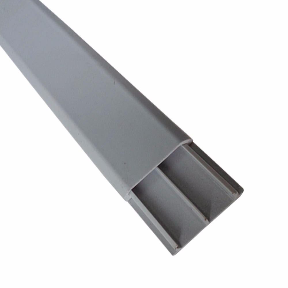 Canaleta de piso dutopiso dp2 pvc 50x10 cinza barra c 2 - Canaleta de pvc ...