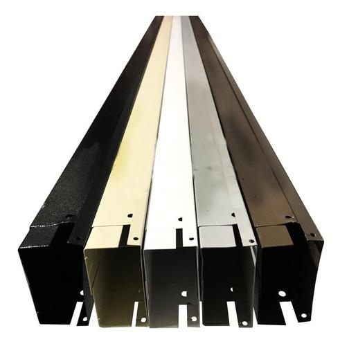 canaleta metalica con division 10 x 4 soportetecnologico