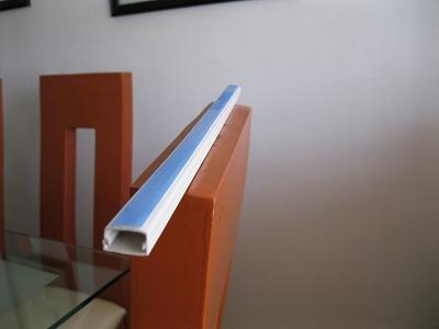 Canaleta pvc con cinta adherible de 1 2 en - Canaleta de pvc ...