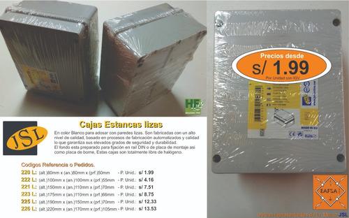 canaleta pvc libre halogenos y cajas estancas