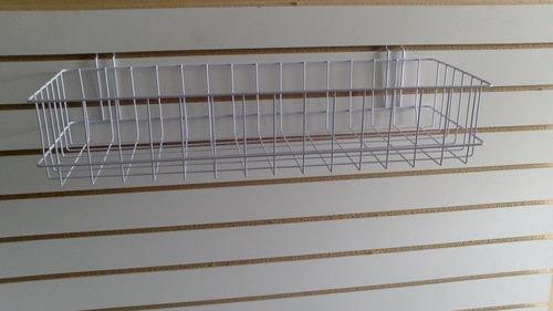 canasta de alambre para exhibipanel exhibidor 60x20cm