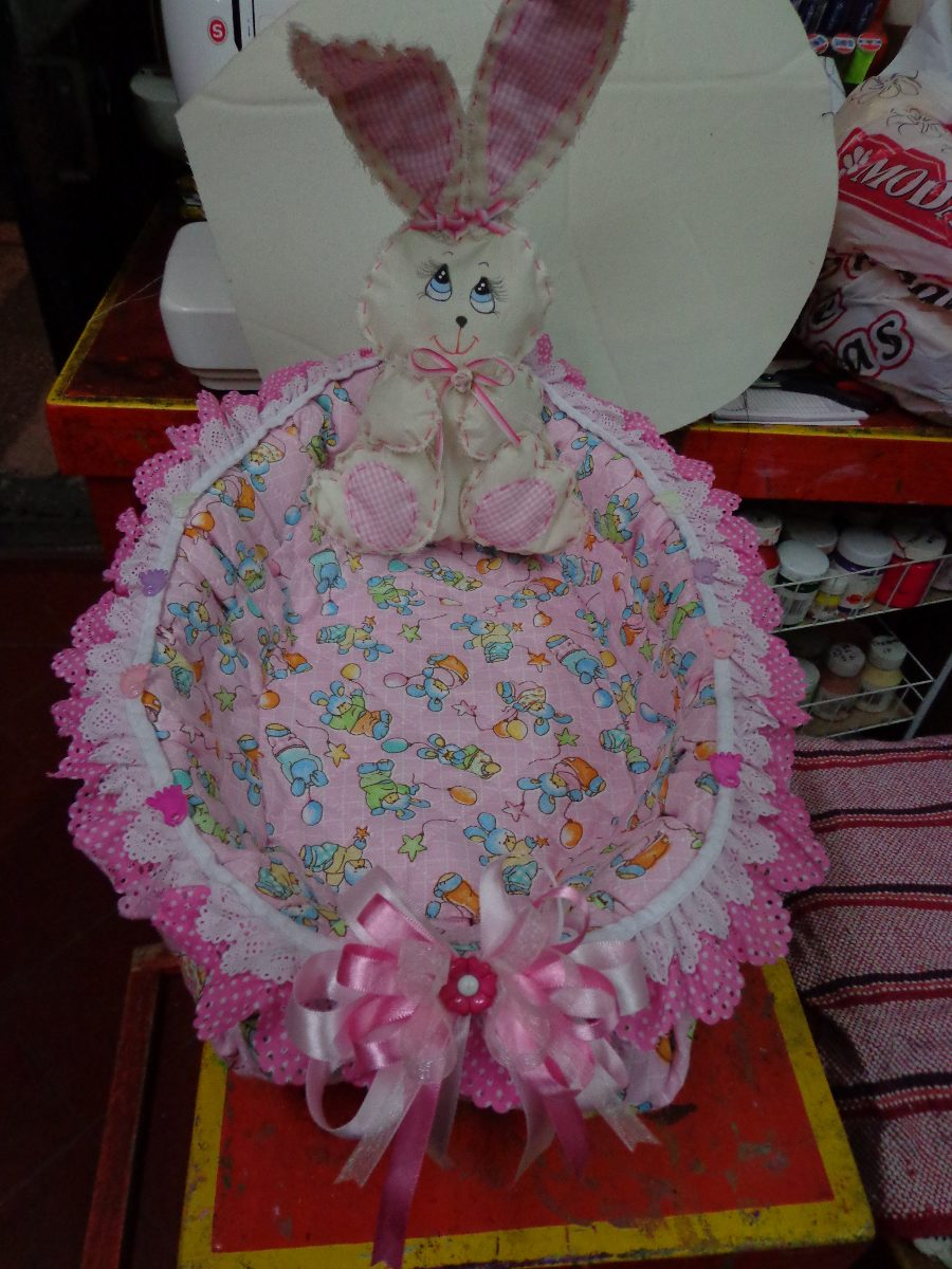 Canasta Decorada Para Baby Shower O Bautizo - $ 250.00 en Mercado ...