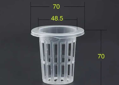 canasta hidroponica 50(u) 7x7x5cm cesta cesto hidroponia