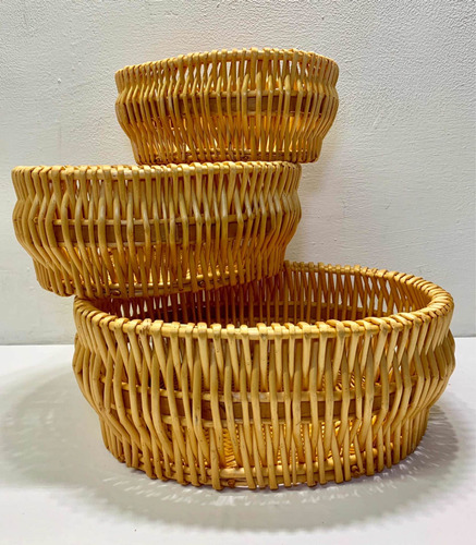 canasta organizadora set 3 tamaños bambú