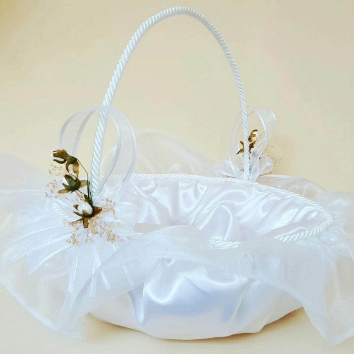 Canasta para boda xv a os etc en mercado libre - Como adornar cestas de mimbre ...