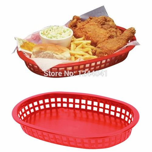 canasta plástico para comidas rápidas food truck oferta !