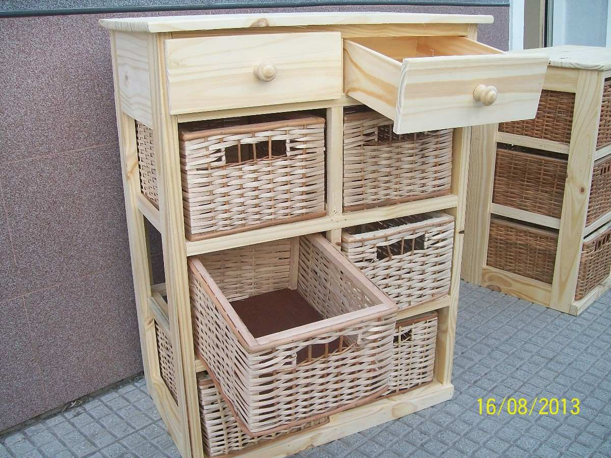 Muebles con cestos de mimbre savvy southern style vintage french lidded basket find muebles - Muebles con cajones de mimbre ...