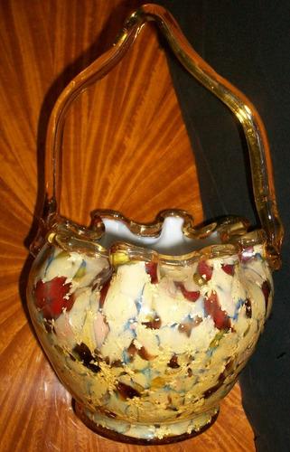canastillo  de   opalina murano