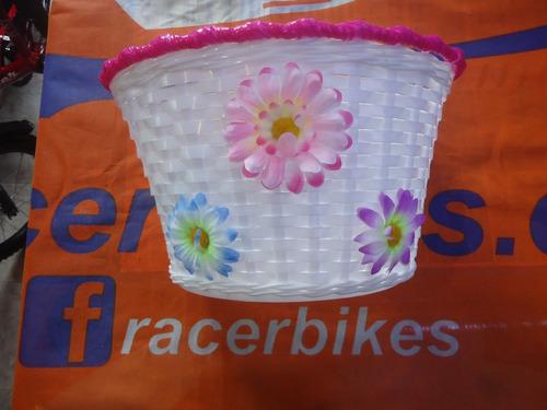 canasto bicicleta nena flores rodado 16 - racer bikes