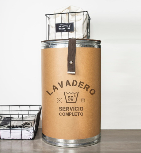 canasto cesto organizador contenedor ropa sucia chico 35x58c