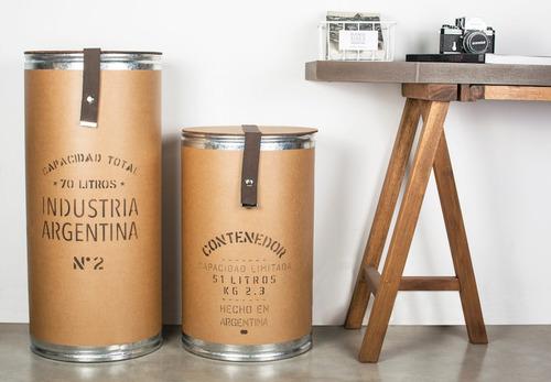 canasto cesto organizador contenedor ropa sucia grand 35x78c