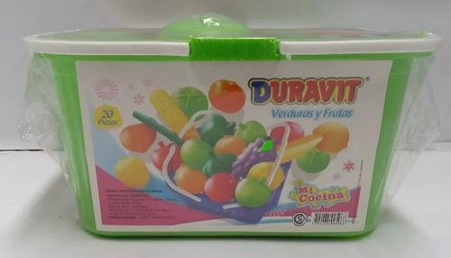 canasto con frutas y verduras duravit - vavi toys