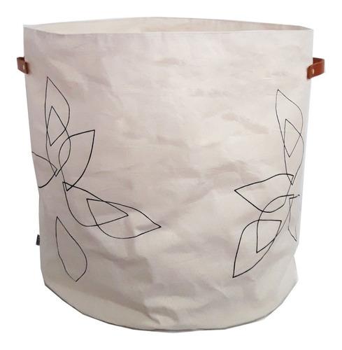 canasto contenedor tela pétalo negro xl liquidación