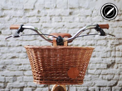 canasto de mimbre para bicicleta - resistente