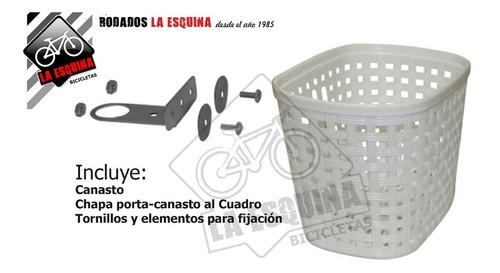 canasto delantero plástico p/ bici rodado 20 x 5 unidades